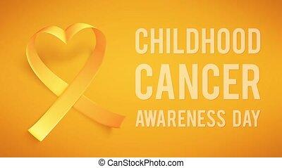 15e, mondiale, enfance, symbole, february., cancer