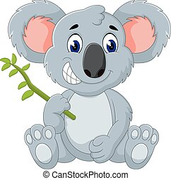 15.eps - Cute koala cartoon of illustration