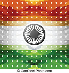15th of August indian flag texture colorful illustration vector