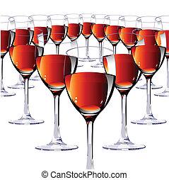 16, ガラス, ∥で∥, 赤, ワイン。