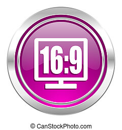 16 9 display violet icon