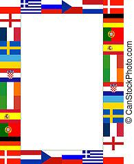 16, bandiera nazionale, cornice