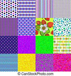 16 colorful seamless patterns