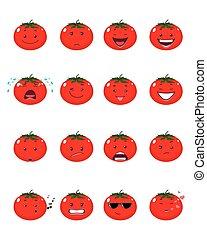 16, emojis, トマト