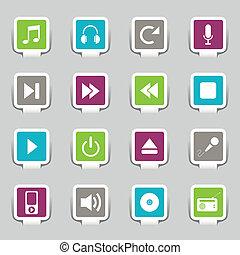 16, música, iconos