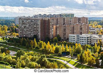 16, microdistrict, di, zelenograd, città, in, mosca, russia