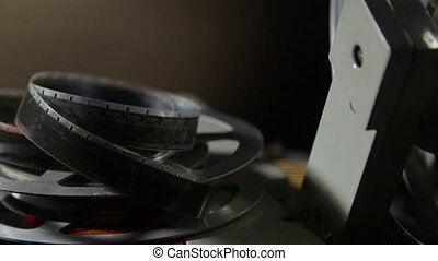 16 mm film reel closeup