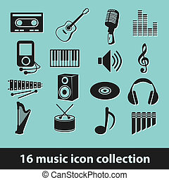 16 music icon collection