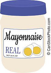 16 oz Jar of Mayonaise Illustration