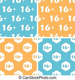 16 plus pattern set, colored