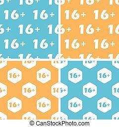 16 plus pattern set, colored