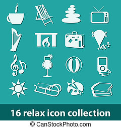 16 relax icon collection