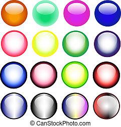 Vector Buttons - 16 Vector Buttons