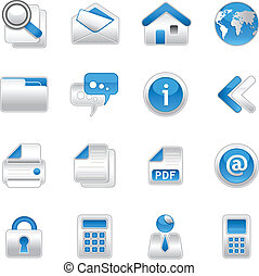 web icons - 16 web icons in EPS vector format.