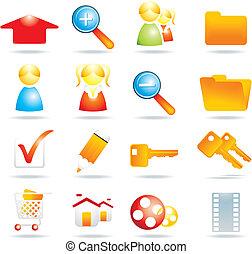 16 web icons - vector illustration