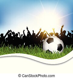 1601, piłka nożna, trawa, tłum