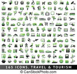 165, bicolore, icons., viaggio turismo