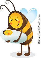 1669 - Bee mother and child
