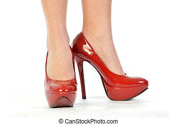 167, cipők, piros