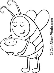 1670 - Bee mother and child