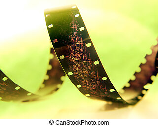 16mm Film 2 - Wound up spool of sisteen milimeter film shot ...