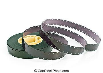 16mm filmspoel, vrijstaand, op wit