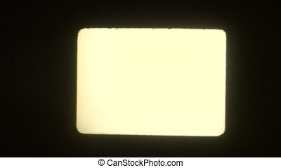 16mm projection blank - This is a 16mm projection of a blank...