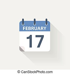 17 february calendar icon