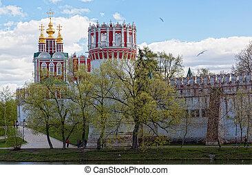 17, gebaut, kloster, moskauer , novodevichy, russia., euch, ...