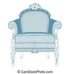 17, vecteur, fauteuil