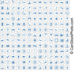 170, ensemble, icônes