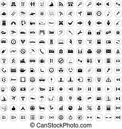 170, icone, set