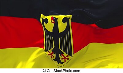 179. Germany Flag Waving in Wind Continuous Seamless Loop Background.