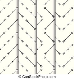17Set of arrows seamless pattern on white background