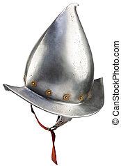 17th century morion iron helmet