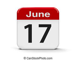 17th June - Calendar web button - The Seventeenth of June -...