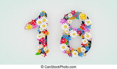 """18."""", цветочный, анимация, """"numerical, разряд"""