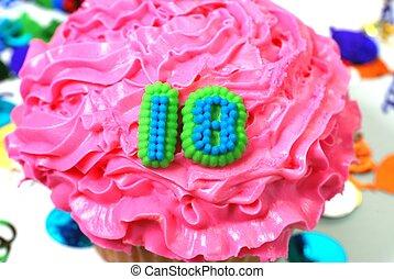18, 祝福, -, 数, cupcake