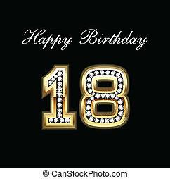 18, 생일, 행복하다