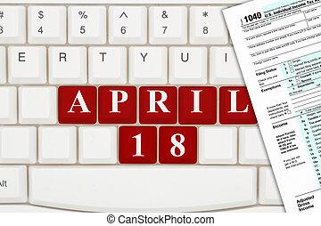 18, 2017, devido, impostos, abril