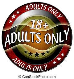 18, adultos só, ícone