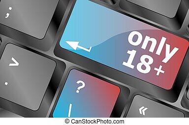 18, bouton, foyer, clés, , seulement, vecteur, plus, clavier...