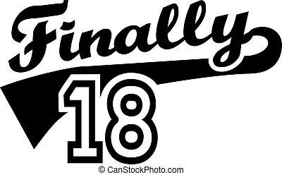 födelsedag 18 18, födelsedag, lycklig. 18, birthday), födelsedag, (happy, th  födelsedag 18