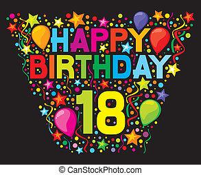 18, narozeniny, šťastný