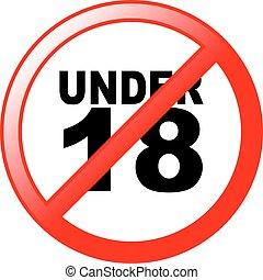 18, onder