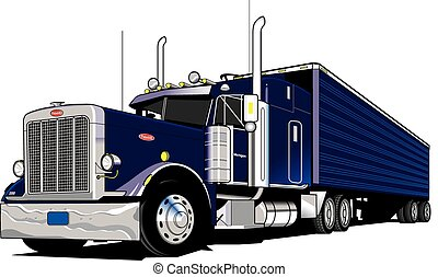 18 Wheeler-Semi Truck - 18 Wheel Semi truck, tractor and...