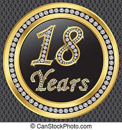 18 years anniversary, happy birthda