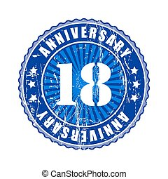 18   Years anniversary stamp.