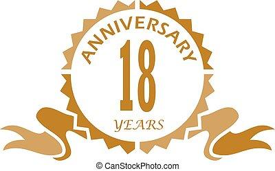 18 Years Ribbon Anniversary