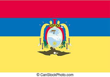 180 Degree Rotated Flag of  Ecuador